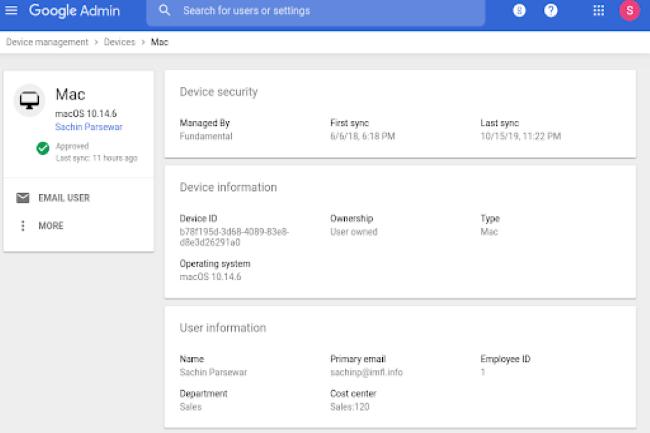 Avec Fundamental Device Management, Google renforce la gestion des terminaux qui se connecte à G Suite. (Crédit Photo : Google)