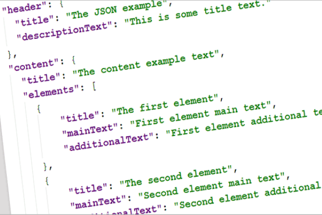 En quelques années, JSON est devenu un format incontournable pour l'échange des données. (Crédit Photo : DR)
