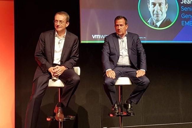 Pat Gelsinger, CEO de VMWare, au coté de Jean-Pierre Brulard, seniort VP en charge de la zone Europe.