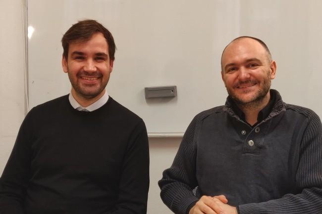 Alexandre Brianceau (gauche) et François Armand (droite) : « Rudder permet de faire le lien entre des règles métier et des configurations techniques ».