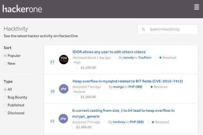 L'une des vulnérabilités de HackerOne affectait le fil d'activité de la communauté Hacktivity.