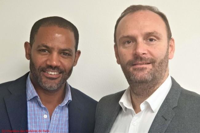 De gauche à droite, Cédric Cefber et Cyril Mallet (Chambre des Notaires de Paris).