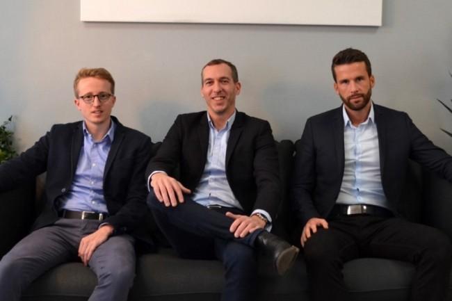 De gauche à droite,Thomas Bodin, directeur technique, Terence Bucher, PDG, et Julien Bardey, directeur commercial, ont lancéHidden.market en septembre 2017. (Crédit : Hidden.market)
