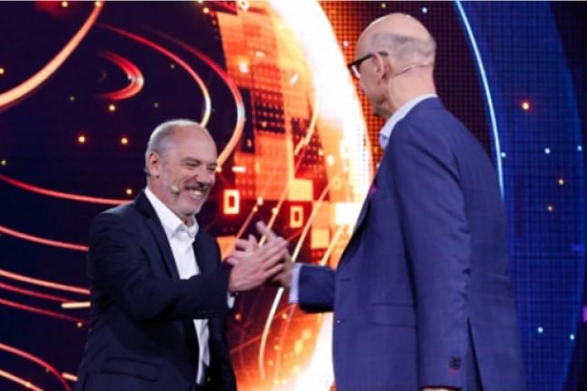 En mai, Orange avait communiqué sur une alliance avec Deutsche Telekom sur un projet commun d'intelligence artificielle. Ci-dessus, Stéphane Richard, PDG d'Orange, et Timotheus Hàttges, PDG de Deutsche Telekom. (Crédit : Orange)