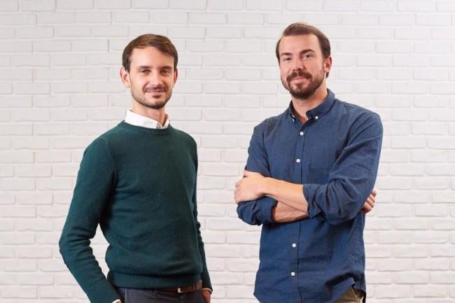 La start-up Moodwork a été créée il y a deux ans par Benjamin Brion, président et directeur général (à droite) et par Léopold Denis directeur des opérations (à gauche). Crédit. Moodwork.