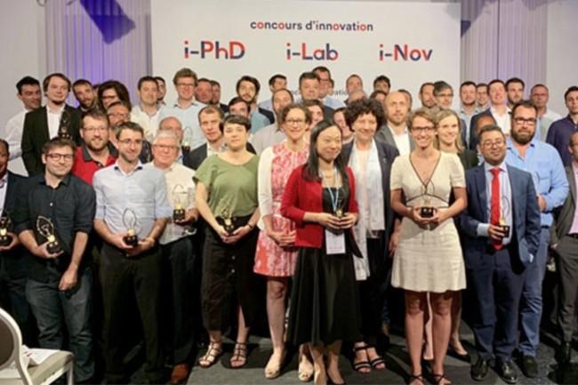 En juillet 2019, le concours d'innovation i-Lab a sélectionné75 projetssur 468 candidatures finalisées, auxquels s'ajoutent (ci-dessus) les lauréats du concours i-Nov destiné aux PME pour un total de 140 lauréats. (Crédit : Ministère de l'Enseignement supérieur, de la Recherche et de l'Innovation)