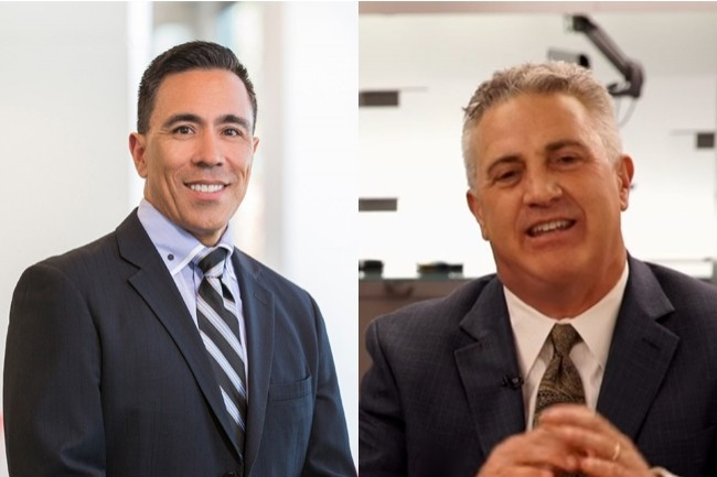 Guillermo Diaz Jr. (à gauche) et Frank Plaumbo quittent Cisco après plus de vingt ans dans le groupe. (Crédit : Cisco)