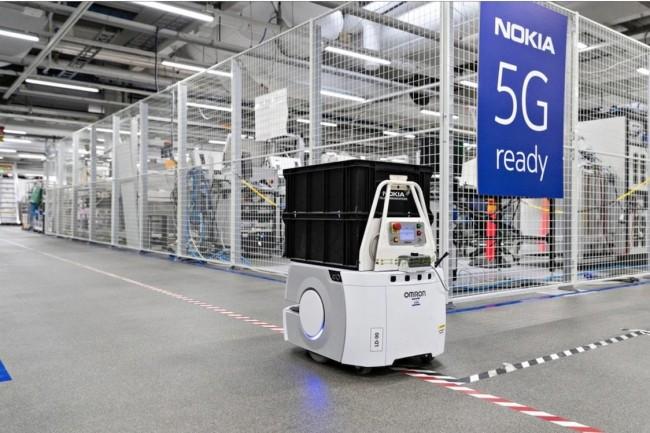 En 2020, les déploiements de la 5G seront majoritairement privés comme ici en logistique dans une entrepôt de Nokia. (Crédit Nokia)