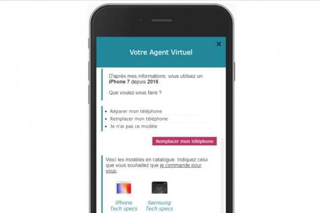 La solution EV Self Help, accessible en situation de mobilité, permet la mise en place d'agents virtuels d'auto-assistance. (Crédit : EasyVista)