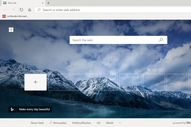 Microsoft a livré un bloqueur pour contrer le téléchargement forcé du navigateur Chromium Edge. (Crédit Photo : DR)