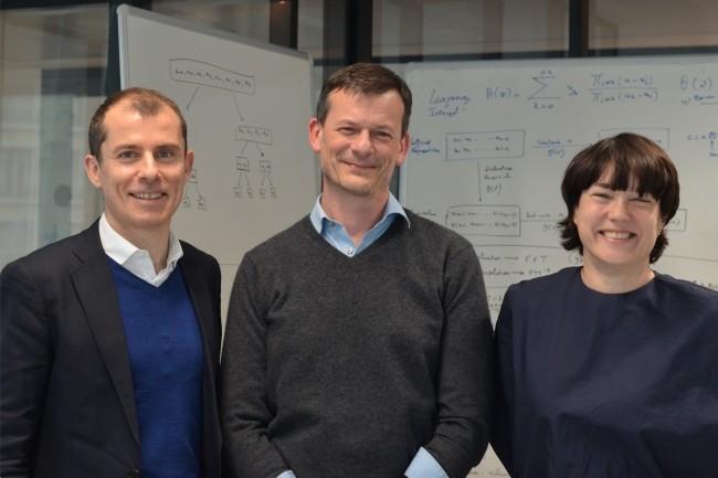 Co-fondateurs et dirigeants de Cosmian, (de g à d) Raphaël Auphan, Bruno Grieder et Sandrine Murcia travaillent étroitement avec le chercheurDavid Pointcheval, spécialiste duchiffrement, qui dirige ledépartement d'informatique de l'ENS, à Paris. (Crédit : Cosmian)