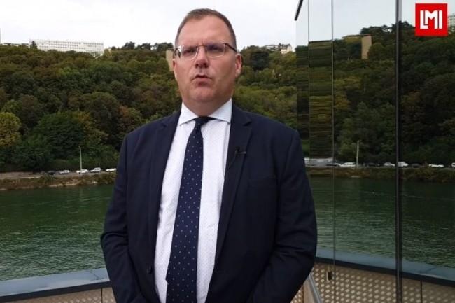 Cyrille Elsen, DSI de Casino et membre du Cesin sur l'IT Tour Lyon organisé à Port Rambaud le 26 septembre 2019. (crédit : LMI)
