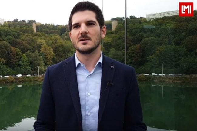 Géraud Gonzalez, directeur IT gouvernance, risk et compliance de XPO Logistics sur l'IT Tour Lyon organisé à Port Rambaud le 26 septembre 2019. (crédit : LMI)