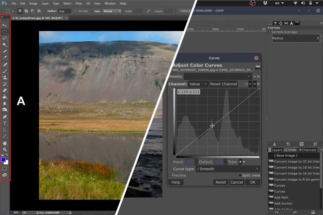 Gimp Vs Photoshop L Outil De Retouche Photos Gratuit Egale T Il Le Payant Le Monde Informatique
