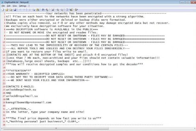 Jusqu'à présent, la fonction de désactivation de processus et d'applications dans le ransomware Clop était séparée, ce n'est plus le cas à présent. (crédit : D.R.)