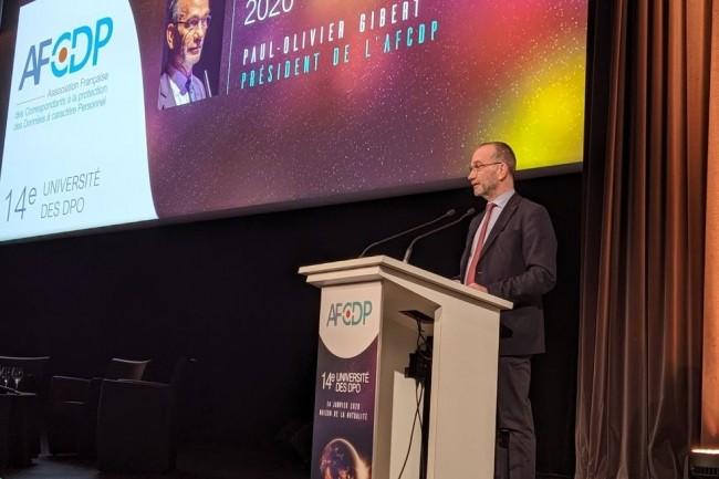 « Cet événement marque un changement d'échelle et une nouvelle étape pour l'AFCDP », a lancé Paul-Olivier Gibert, président de l'AFCDP. (crédit : D.F.)