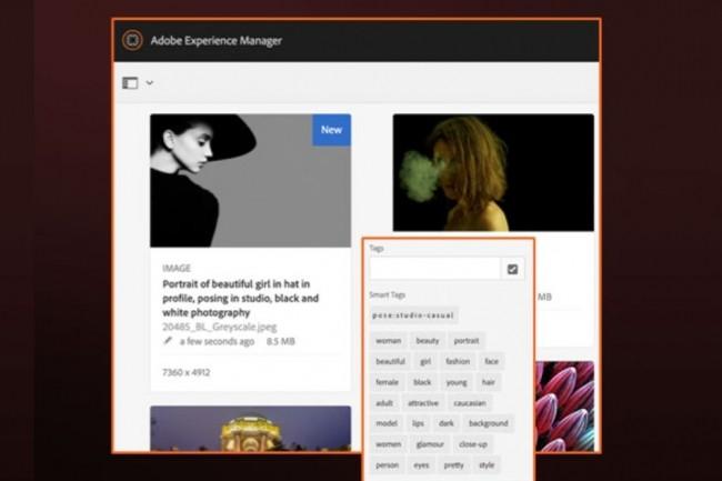 Le logiciel de Digital Asset Management d'Adobe s'appuie sur les fonctions d'automatisation de Sensei pour tagguer les images et vidéos. (Crédit : Adobe)