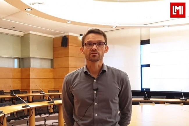 Bertrand Spenlé, DSI du Groupe Elsan sur l'IT Tour Nantes organisé à la CCI le 16 octobre 2019. (crédit : LMI)