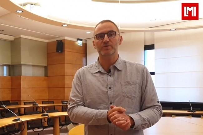 Harold Mouchère, professeur à l'Université de Nantes au Laboratoire LS2N sur l'IT Tour Nantes organisé à la CCI le 16 octobre 2019. (crédit : LMI)