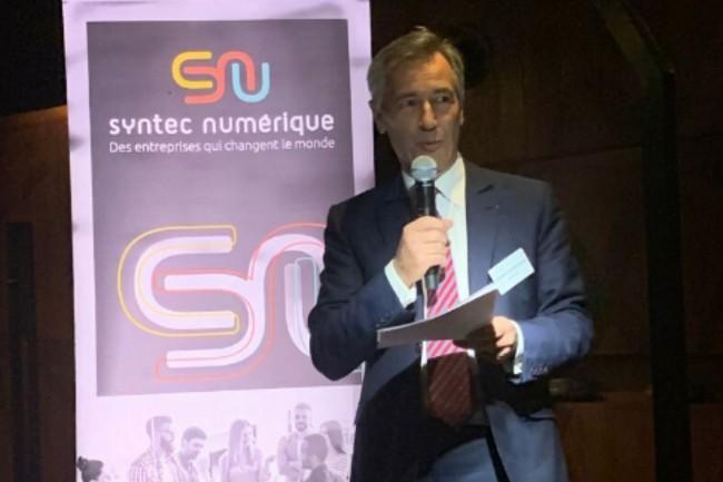 Godefroy de Bentzmann, président de Syntec Numérique, veut faire de 2020 l'année d'un numérique plus inclusif, plus éthique et plus responsable. Crédit. Syntec Numérique.