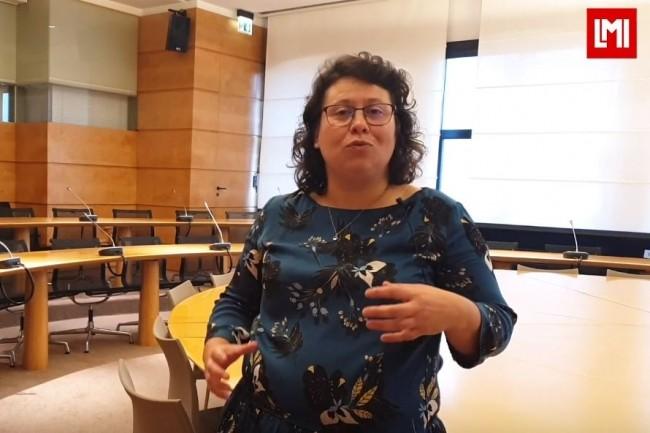 Katell Auguié, chargée de mission protection des données et administration électronique à la Mairie d'Orvault sur l'IT Tour Nantes organisé à la CCI le 16 octobre 2019. (crédit : LMI)