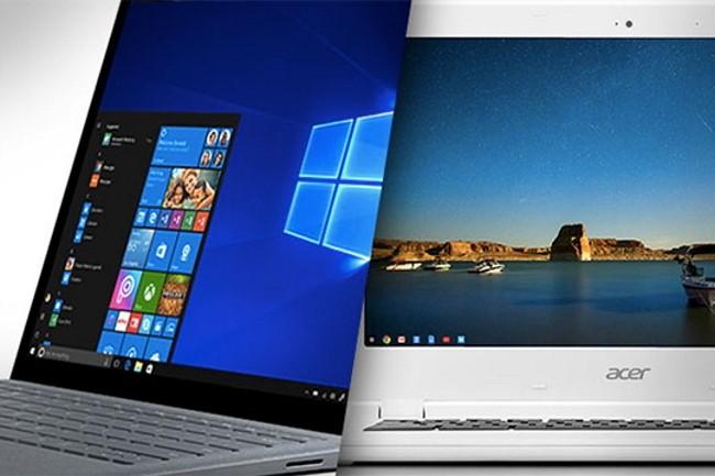 Difficile de choisir entre Windows 10 S et Chrome  OS (crédit photo :DR)