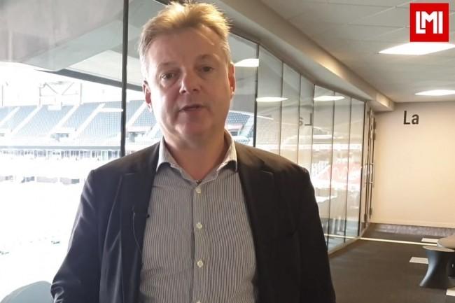 Christophe Laloyer, président du club DSI Gun sur l'IT Tour Lille organisé au stade Pierre Mauroy le 14 novembre 2019. (crédit : LMI)