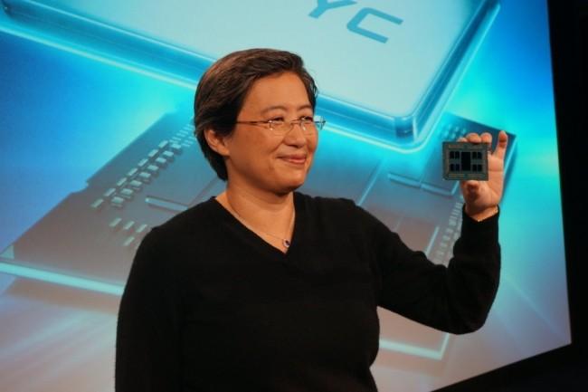 Lisa Su, CEO d'AMD, peut désormais compter sur un trésor de guerre de 1,5 millaird de dollars pour assurer le développement de la société. (Crédit Gordon Mah Ung)