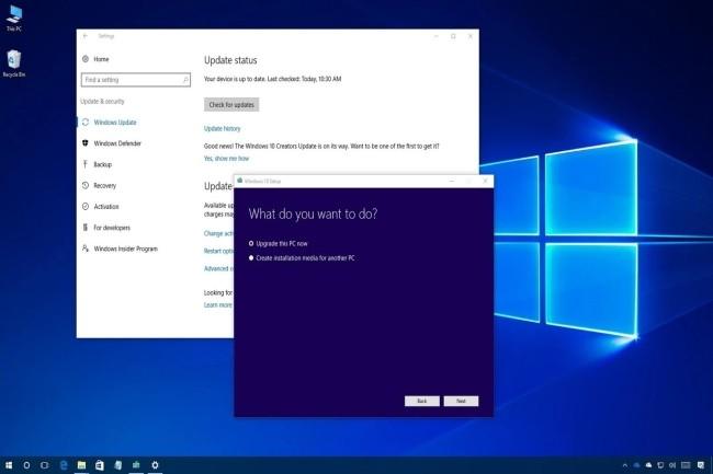 Microsoft engage fortement les utilisateurs de la version 1809 de Windows 10 à passer à la version 1909. (Crédit Photo : DR)