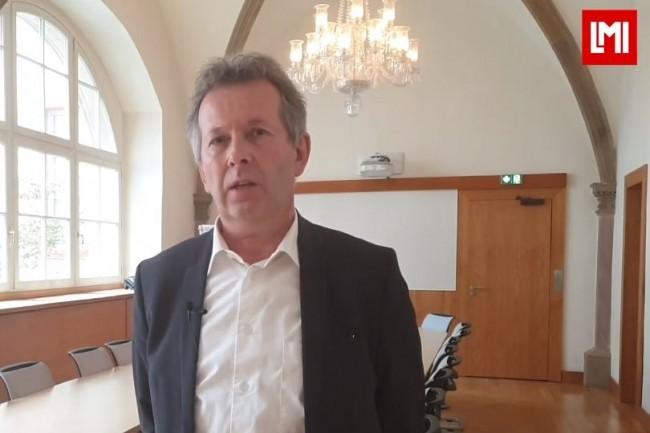 Emmanuel Brunstein, Responsable Organisation SI de N.Schlumberger est intervenu sur l'IT Tour 2019 à Strasbourg organisé à la CCI le 21 novembre 2019. (crédit : LMI)