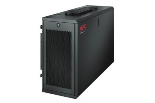 La version 6U de l'EcoStruxure Micro Data Center peut être fixé au mur. (Crédit : Schneider Electic)