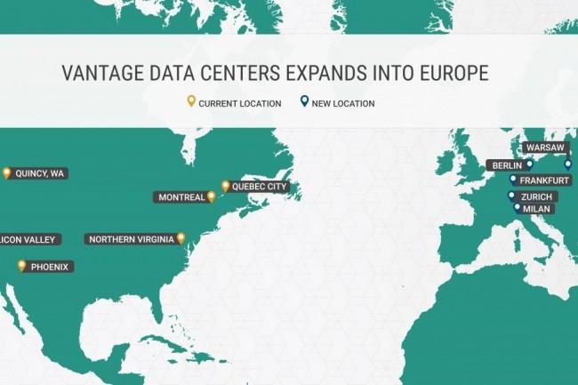 Vantage a annoncé l'achat de terrains pour bâtir quatre datacenters en Italie, Pologne, Suisse et en Allemagne. (Crédit : Vantage Data Centers)