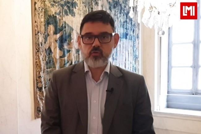 Eric Thareau DSI, DSI Ceva Santé Animale est intervenu sur l'IT Tour 2019 à Bordeaux organisé à l'Institut Culturel Bernard Magrez le 6 décembre 2019. (crédit : LMI)
