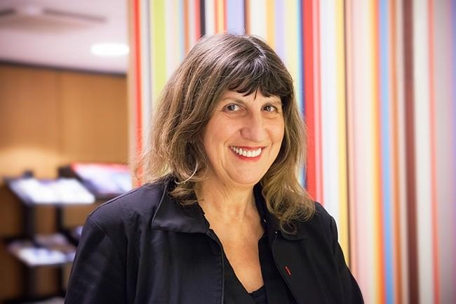 Élisabeth Humbert-Bottin, directrice générale du GIP-MDS, pilote ce qui constitue sans doute un des plus grands chantiers sur les datas au monde. (Crédit : Alexia Perchant)