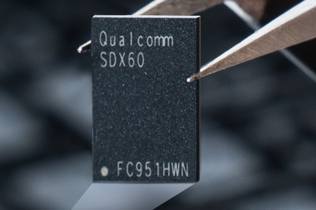 Le SD X60 affiche un débit descendant théorique de 7,5 Gbps et un débit ascendant théorique de 3 Gbps (Photo Qualcomm)