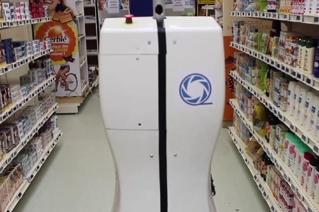 Les robots de Qopius captures et analysent les stocks de produits sur étagère (Capture vidéo Qopius)