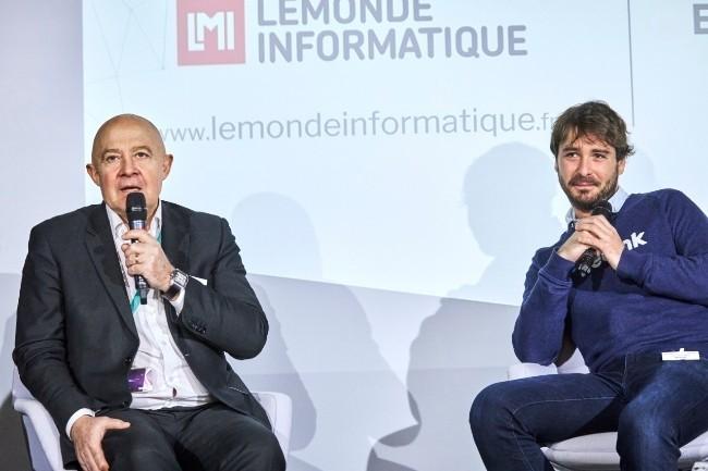 Pour Gilles Berthelot, RSSI Groupe de la SNCF et Paul Guillemin, CEO de Fretlink, la valeur est dans les données et elles doivent être protégées (Photo B.Levy)