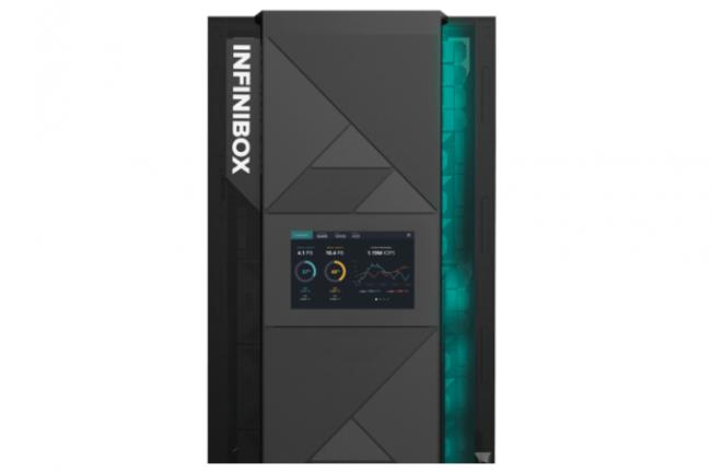 La baie InfiniBox F6300 d'Infinidat peut stocker jusqu'à 4 Po de données, réparties sur de la flash et des disques durs. (Crédit Infinidat)