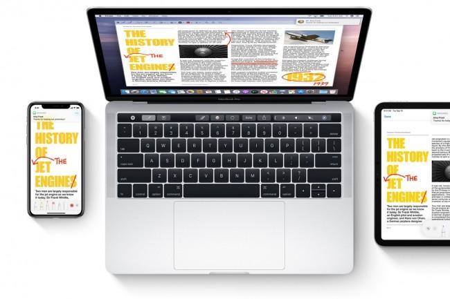 Une seule application pour trois environnements de travail (Mac, iPhone et iPad), c'est le pari d'Apple avec la plateforme Catalyst. (Crédit Apple)