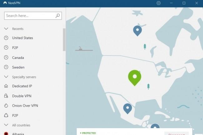 Une connexion NordVPN active avec Etats-Unis. (Crédit D.R)