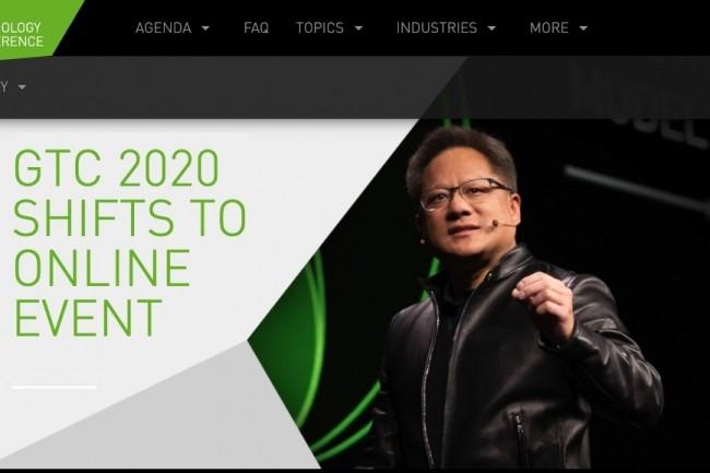Pour cause de craintes liées au coronavirus, la convention annuelle de Nvidia passe online. (Crédit Nvidia)