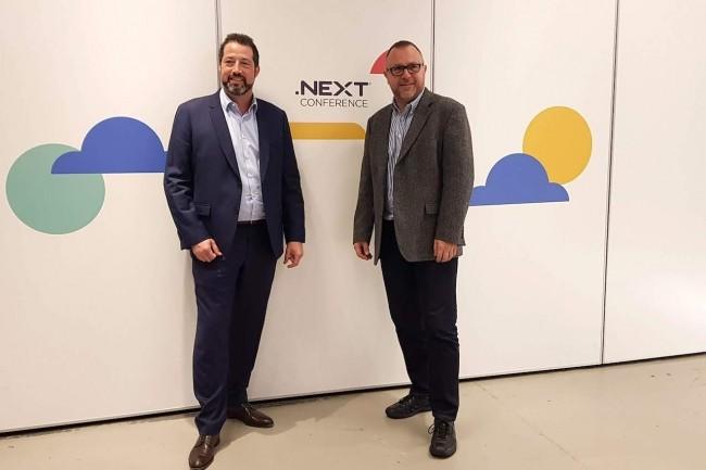 Un duo redoutable désormais à la direction de Nutanix Europe, Moyen-Orient et Afrique : Sammy Zoghlami, senior vice président Sales EMEA, et Sylvain Siou, vice président Systems Engineering EMEA. (Crédit S.L.)