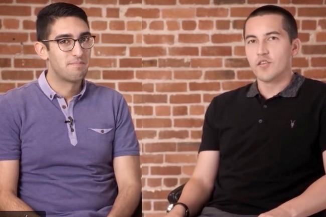 D�s 2008, Armon Dadgar (� gauche) et Mitchell Hashimoto, co-fondateurs de HashiCorp, ont travaill� sur un projet de recherche autour du multi-cloud � l'Universit� de Washington � Seattle. Ils se partagent aujourd'hui la direction technique�de la soci�t�constitu�e�en 2012. (Cr�dit : HashiCorp)