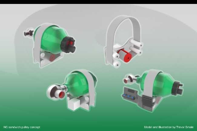 Le prototype de respirateur open source OpenLung, disponible sur Github (Trevor Smale)