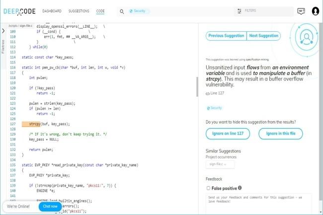 DeepCode élargit ses compétences de révision de code en supportant C et C++. (Crédit Photo : DR)