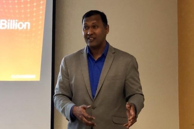 Kumar Ramachandran, CEO et cofondateur de CloudGenix, a créé en 2013 la start-up, maintenant rachetée par Palo Alto Networks. (Crédit Photo : SL)