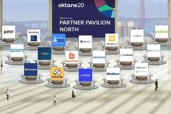 La plateforme de live stream et conférences virtuelle utilisée par Okta, Inxpo d'Intrado, a connu quelques bugs à son lancement. (Crédit : Okta)