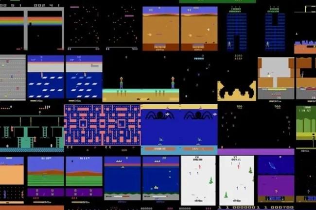 L'intelligence artificielle Agent57 mise au point par DeepMind de Google s'est montrée plus efficace que le joueur humain moyen sur 57 jeux-vidéo Atari. (crédit : D.R.)