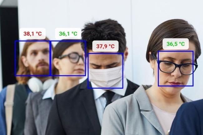 Des sociétés comme Dermalog spécialisée dans le scan d'empreintes digitales ont intégré la détection de température. (Crédit Photo : Dermalog)