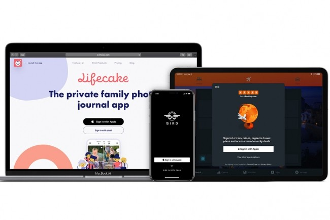 La fonction « Sign in with Apple » sera bientôt proposée en option avec un grand nombre d'applications et services en ligne. (Crédit Apple)